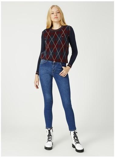 U.S. Polo Assn. U.S. Polo Assn. Yüksek Bel Açık Mavi Denim Pantolon Mavi